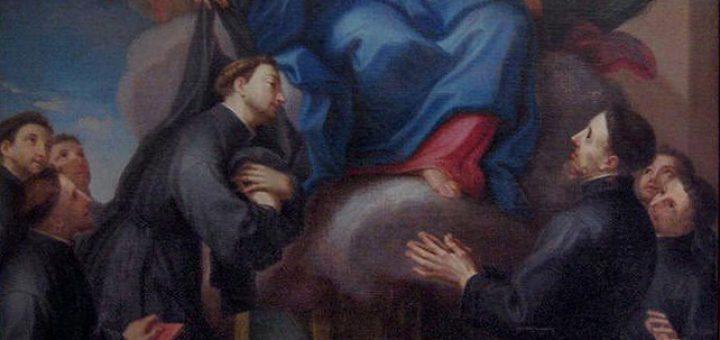 La Vergine concede l'abito ai sette fondatori dei Servi di Maria - See more at: http://bbcc.ibc.regione.emilia-romagna.it/pater/loadcard.do?id_card=60128#sthash.MpctNIHo.dpuf Museo della Citta Via L. Tonini, 1 Rimini (RN) Triga Giacomo (1674/ 1746) dipinto tela/ pittura a olio cm. 167 (la) 270 (a) sec. XVIII (1731 - 1731) La Vergine tende l'abito ai fondatori dei Servi di Maria; intorno a lei angeli. - See more at: http://bbcc.ibc.regione.emilia-romagna.it/pater/loadcard.do?id_card=60128#sthash.MpctNIHo.dpuf