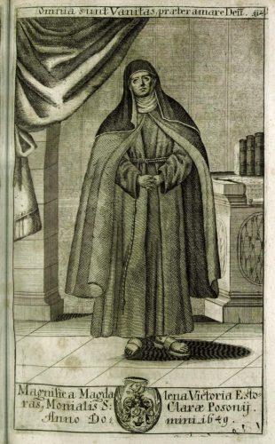 Esterházy Magdolna Viktória klarissza (Trophaeum nobilissimae ac antiquissimae domus Estorasianae, Viennae, 1700; SLUB)