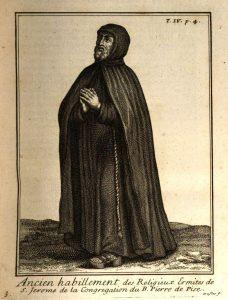 Claude Duflos metszete, 1715 (Helyot, Hyppolite, Histoire Des Ordres Monastiques Religieux Et Militaires, IV, 1715)