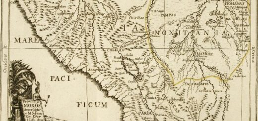 Moxitania (Bolívia) terképe (Eder Ferenc SJ, 1791)